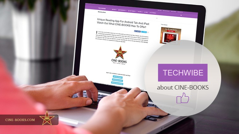 """Try it yourself!"" The technology portal Techwibe praises cine-books!   (cover)"