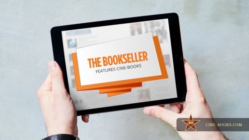 "CINE-BOOKS is featured in ""The Bookseller"" magazine (cover)"