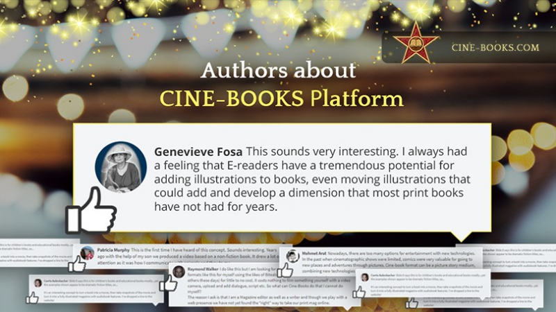 """Tremendous potential."" CINE-BOOKS' opening registration on the platform for authors is highly prais"