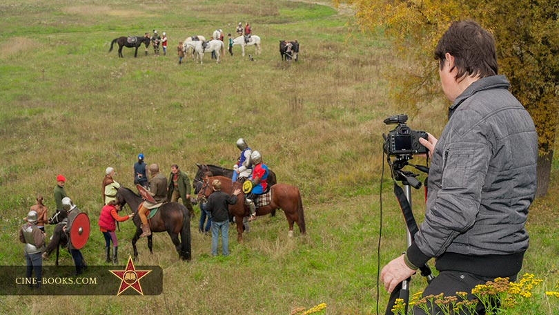 "Good-humored giants and a disobedient pony. How we shot ""The Brave Little Tailor"" cine-book"