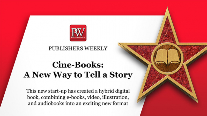 "CINE-BOOKS has published an article in ""Publishers Weekly""! (cover)"